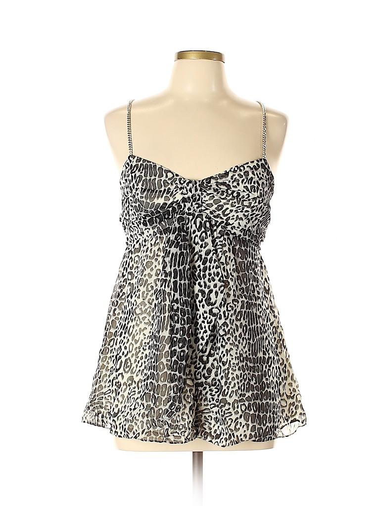 MICHAEL Michael Kors Women Sleeveless Silk Top Size L