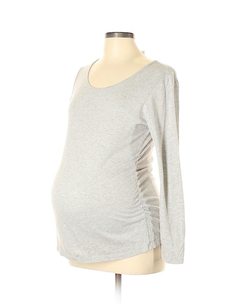 Three Seasons Maternity Women Long Sleeve T-Shirt Size L (Maternity)