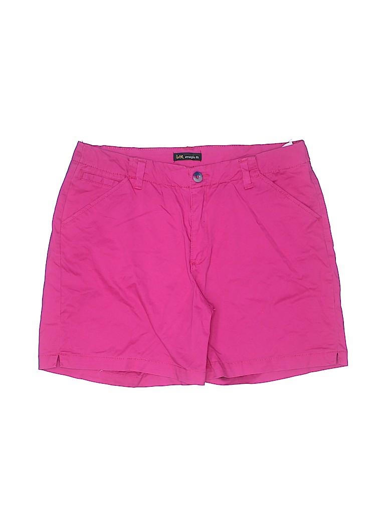 Lee Women Khaki Shorts Size 14