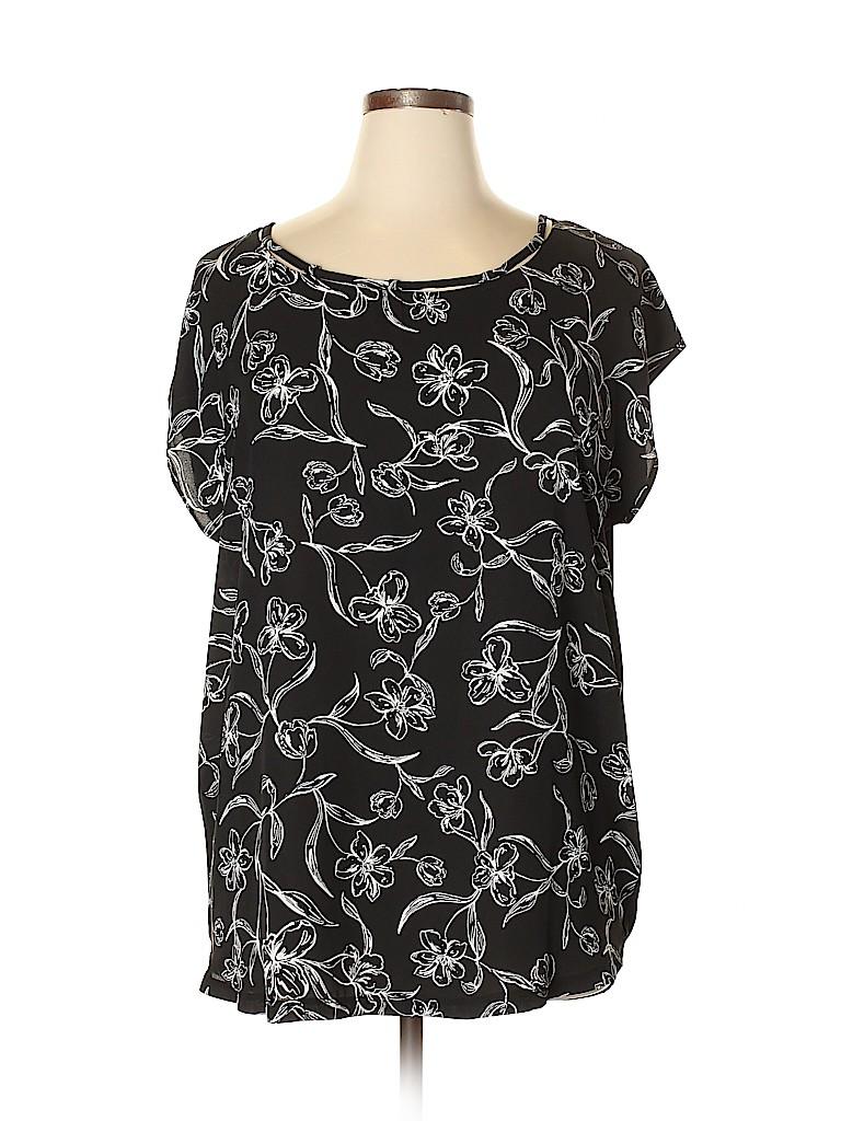 Michel Studio Women Short Sleeve Blouse Size 0X (Plus)