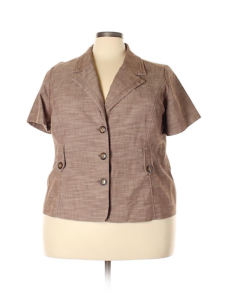 Fashion Bug Women Blazer Size 24 (Plus)