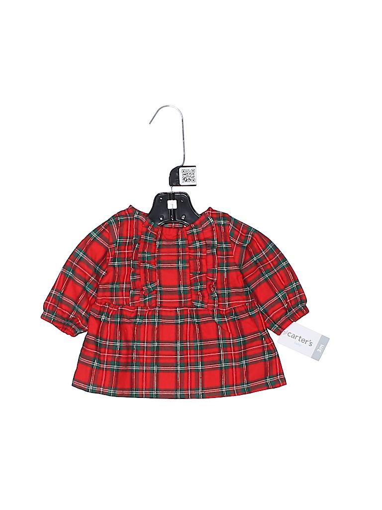 Carter's Girls Long Sleeve Blouse Size 3 mo