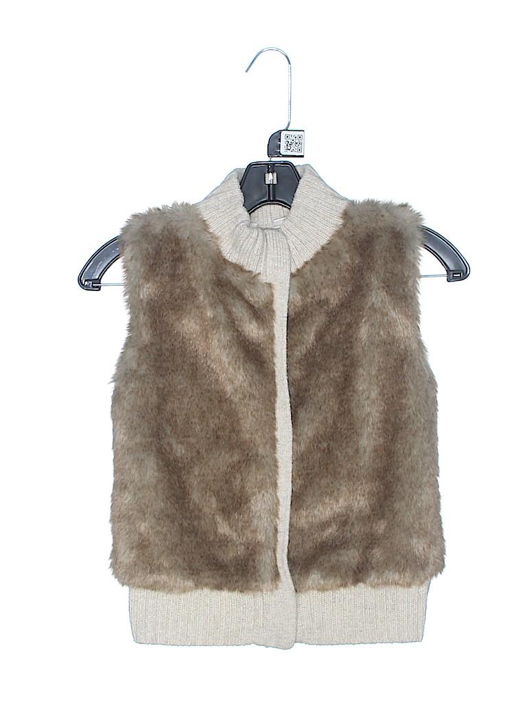 Gap Kids Girls Faux Fur Vest Size 8