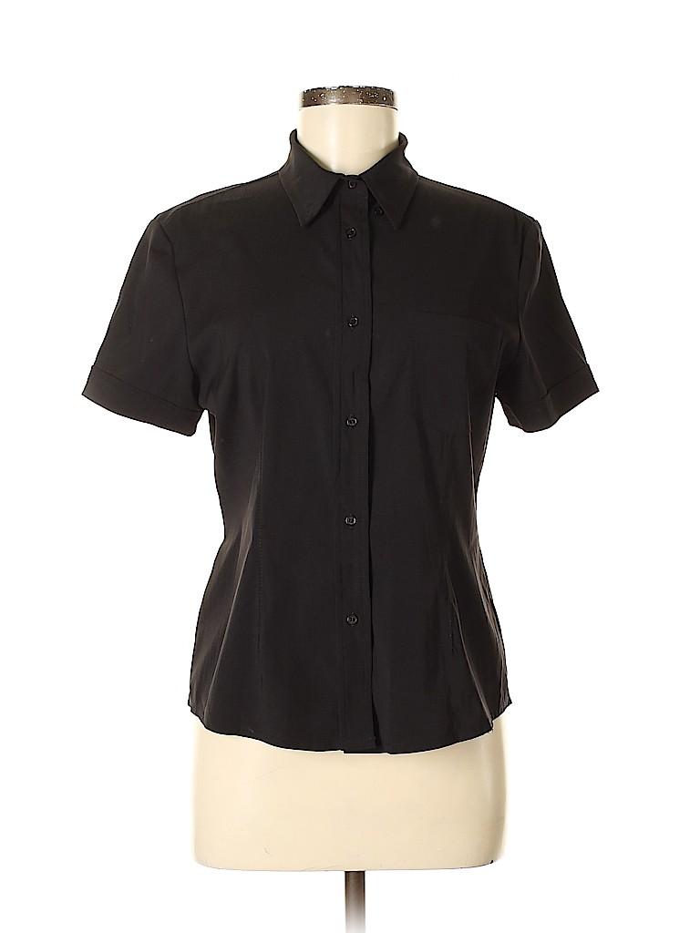 Arden B. Women Short Sleeve Button-Down Shirt Size 10