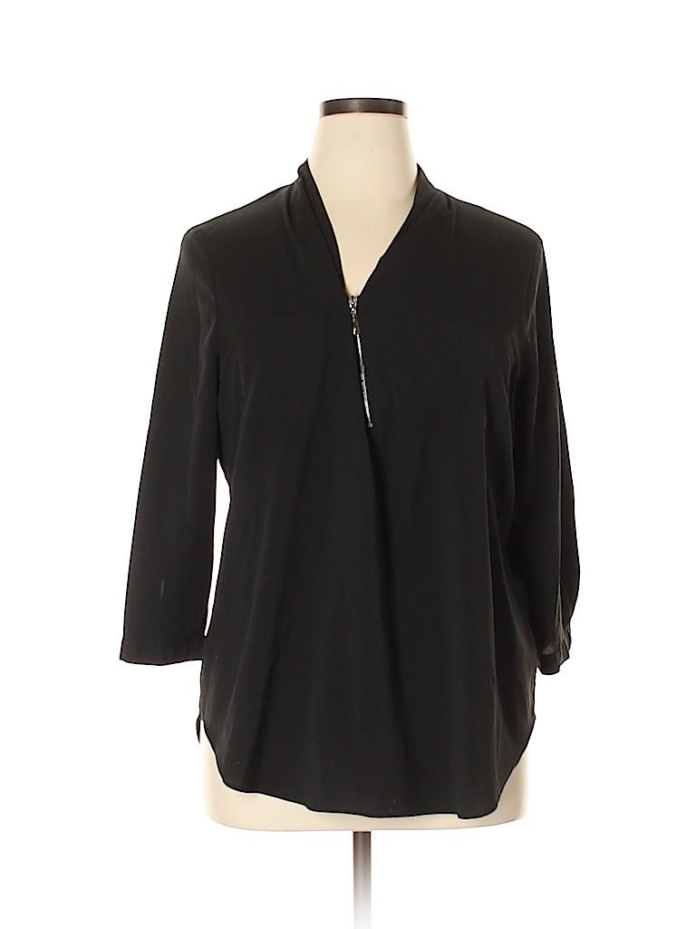 Jaclyn Smith Women Long Sleeve Blouse Size XL