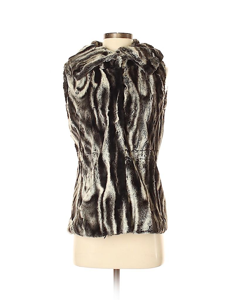 T Tahari Women Faux Fur Vest Size XS