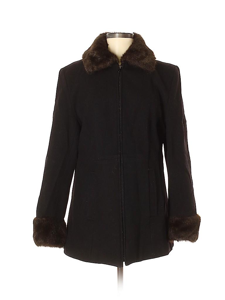Relativity Women Wool Coat Size M