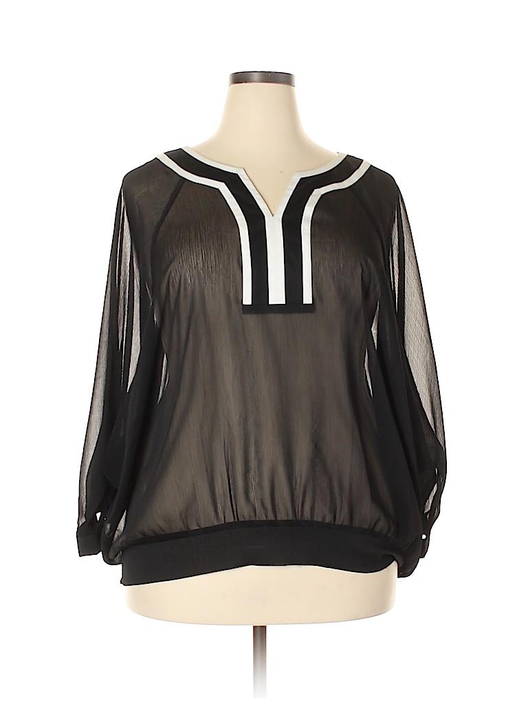 Avenue Studio Women Long Sleeve Blouse Size 22-24 (Plus)