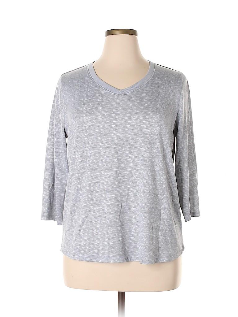 Croft & Barrow Women 3/4 Sleeve T-Shirt Size XL