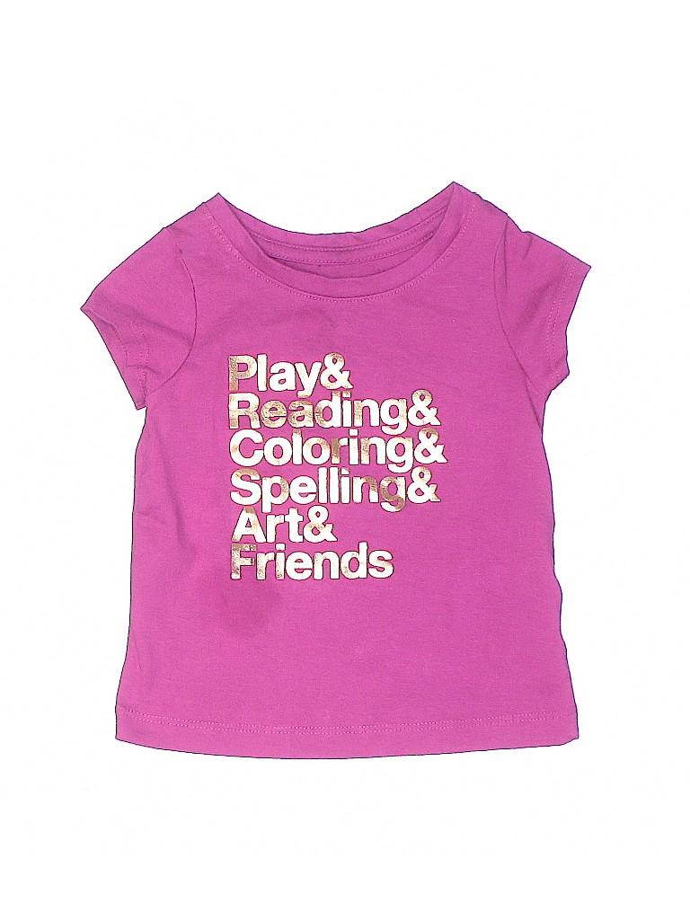 Cat & Jack Girls Short Sleeve T-Shirt Size 18 mo