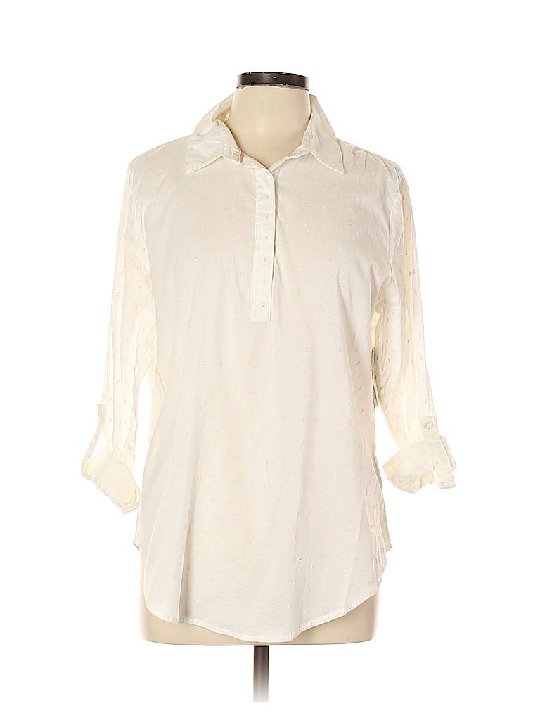 Canyon River Blues Women Long Sleeve Button-Down Shirt Size L