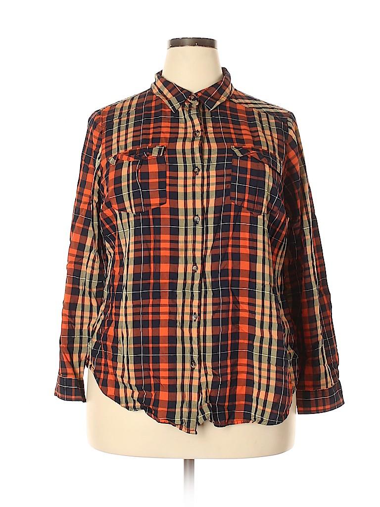 Cato Women Long Sleeve Button-Down Shirt Size 18 - 20 (Plus)