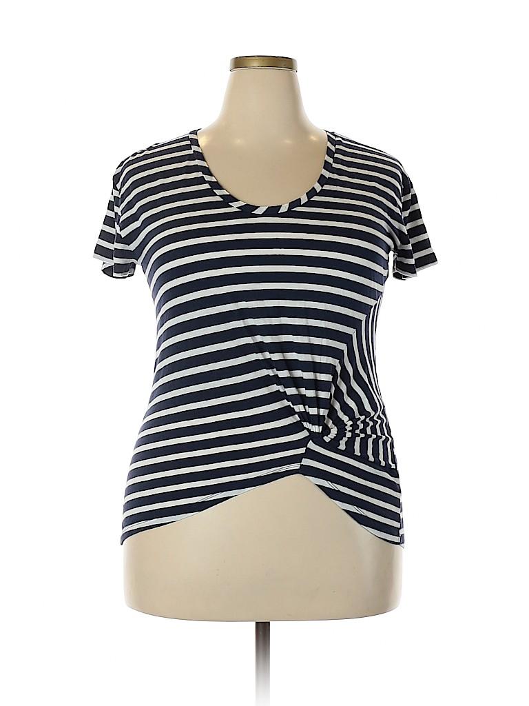 Halogen Women Short Sleeve Top Size 1X (Plus)