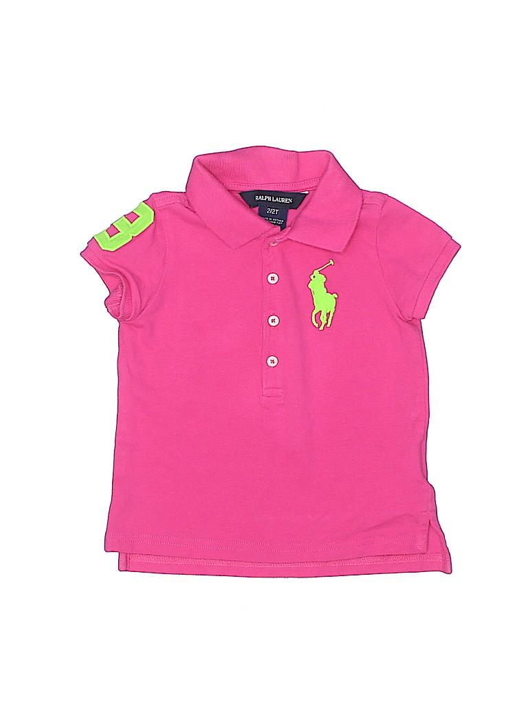 Ralph Lauren Girls Short Sleeve Polo Size 2T - 2