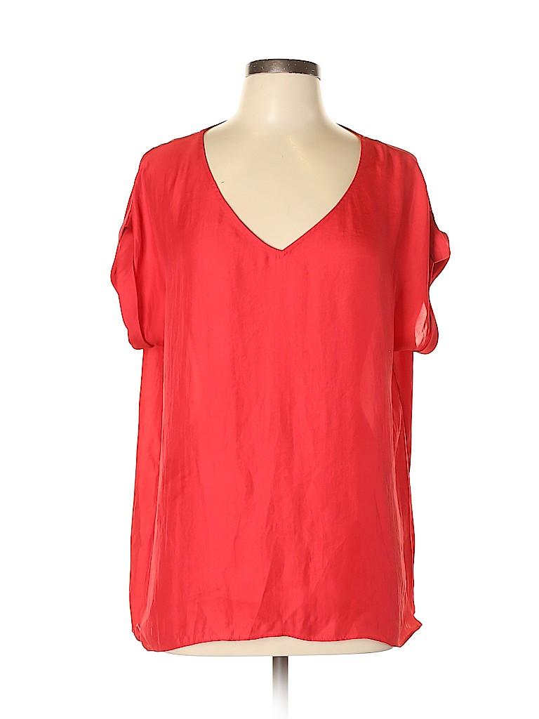 MNG Women Short Sleeve Blouse Size 10