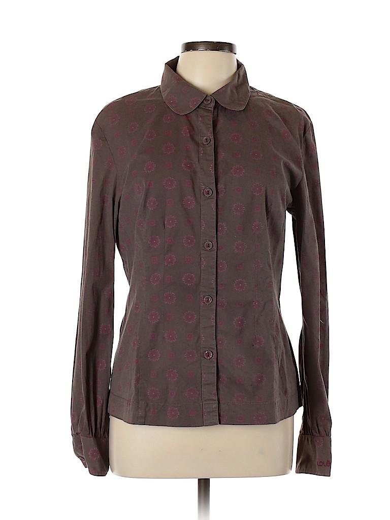 Lole Women Long Sleeve Button-Down Shirt Size 12