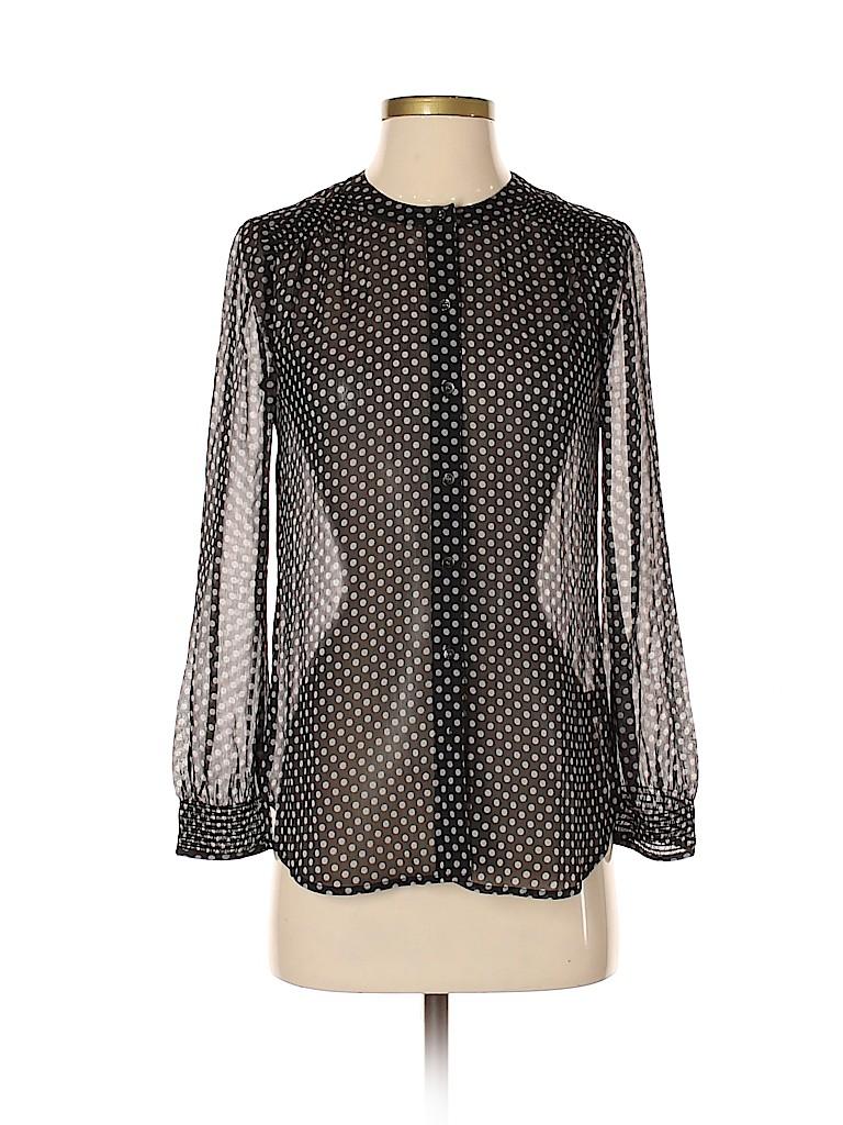 Broadway & Broome Women Long Sleeve Silk Top Size XS