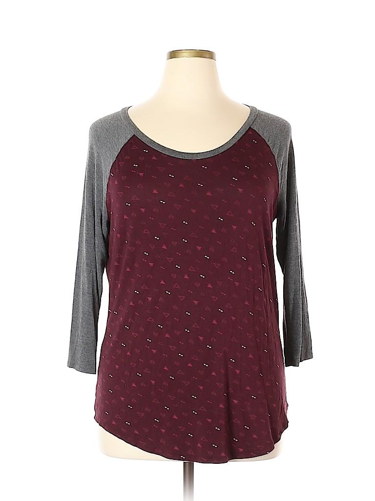 Maurices Women 3/4 Sleeve T-Shirt Size XL