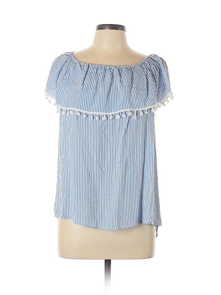 Unique Spectrum Women Short Sleeve Blouse Size XL