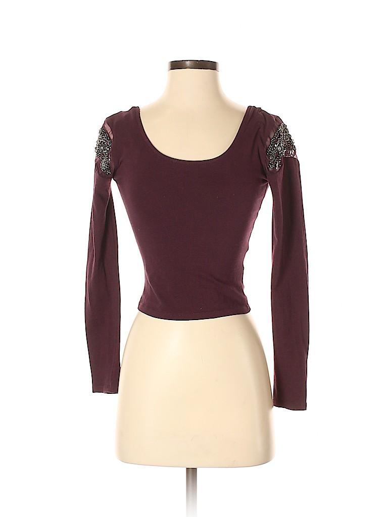Sparkle & Fade Women Long Sleeve Top Size S