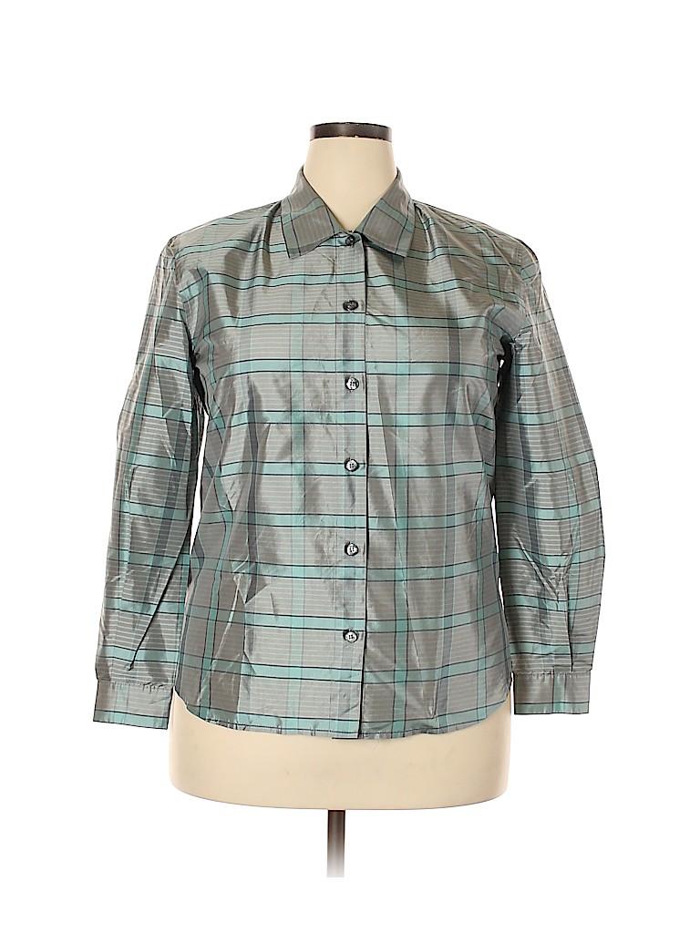 Carlisle Women Long Sleeve Silk Top Size 14