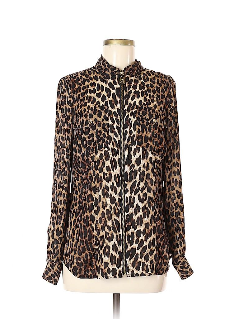 MICHAEL Michael Kors Women Long Sleeve Blouse Size 6