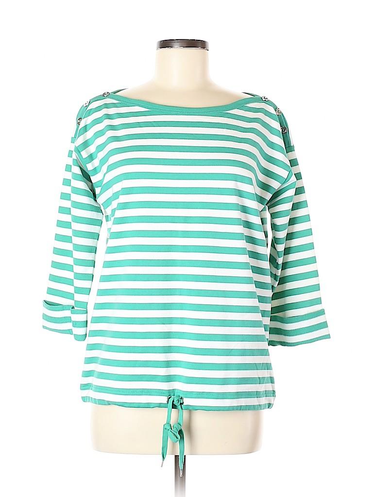 Anne Klein Women Long Sleeve T-Shirt Size M