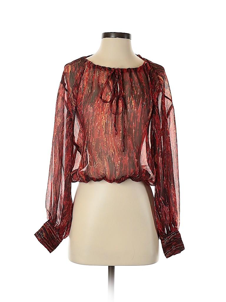 Arden B. Women Long Sleeve Blouse Size XS