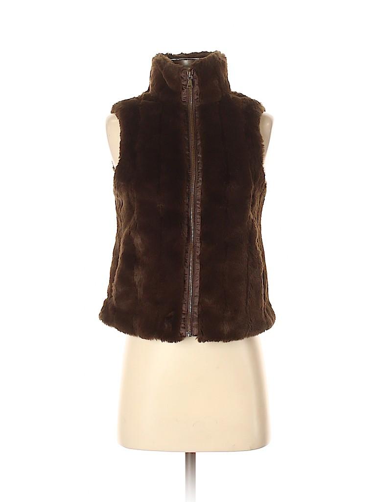 Express Women Faux Fur Vest Size XS