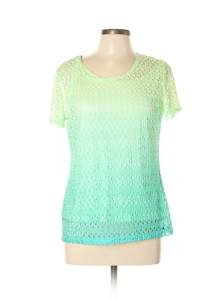 Notations Women Short Sleeve Blouse Size L