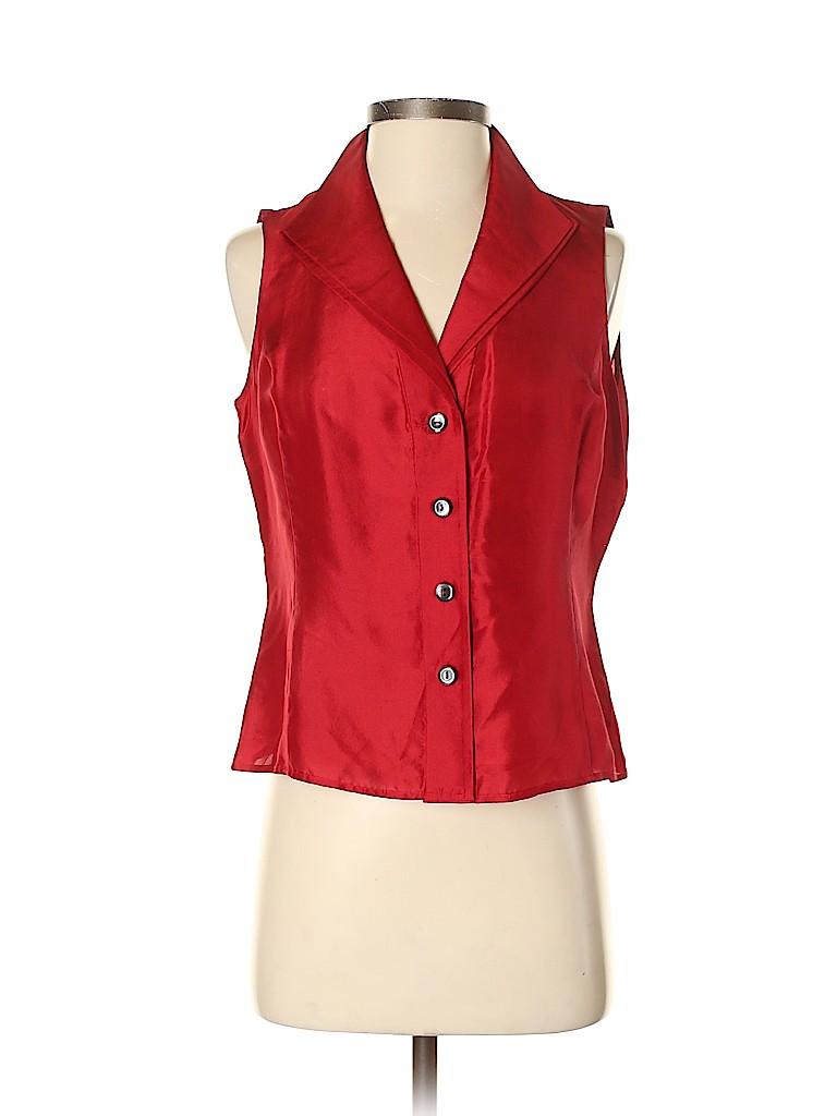 Jones New York Collection Women Sleeveless Silk Top Size 4