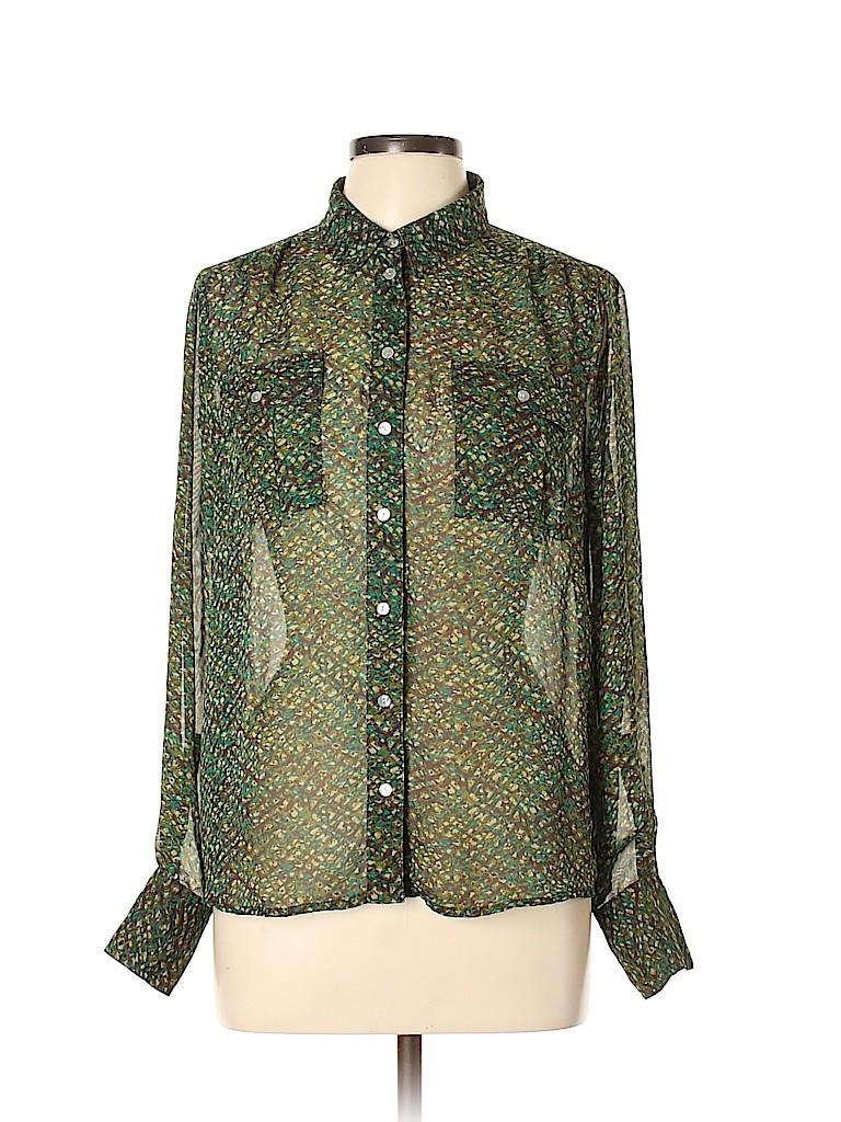 Willi Smith Women Long Sleeve Blouse Size L