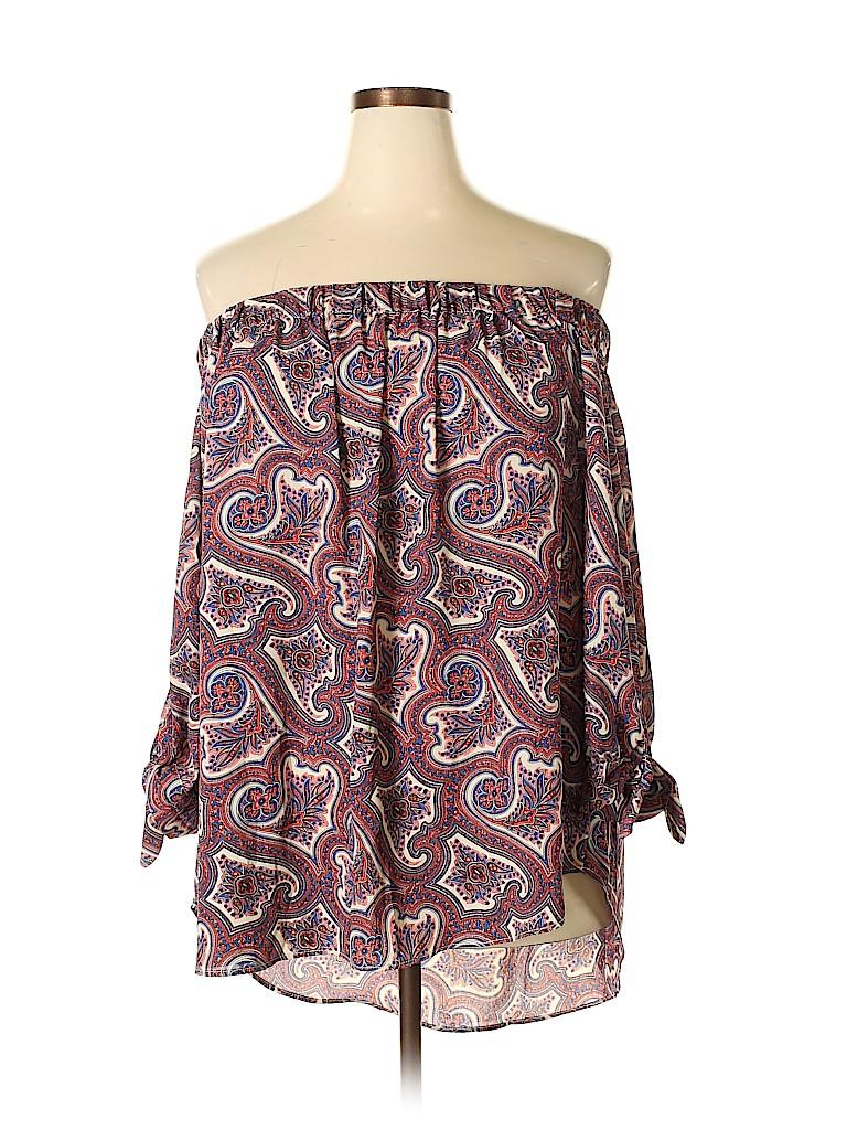 Premise Studio Women 3/4 Sleeve Blouse Size 3X (Plus)
