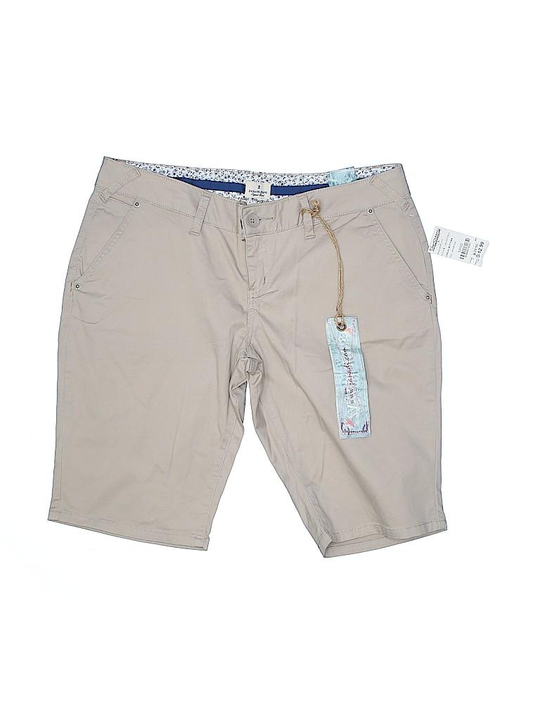 Zana Di Jeans Women Khaki Shorts Size 13