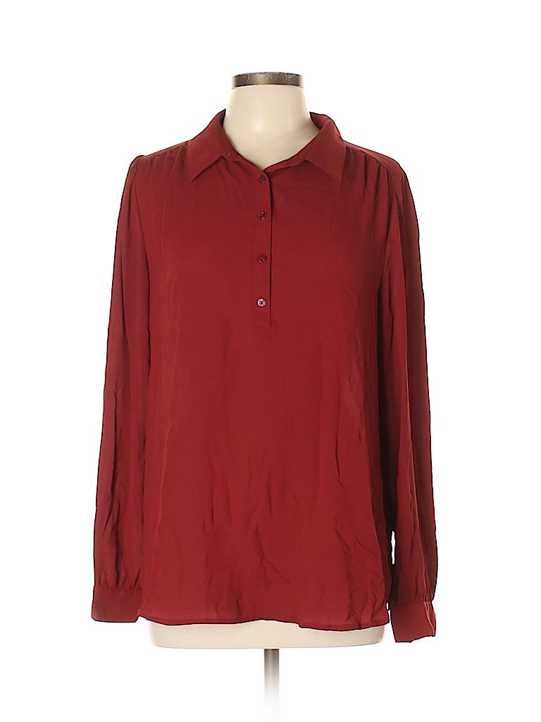 14th & Union Women Long Sleeve Blouse Size L