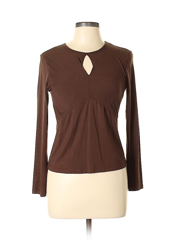 B. Moss Women Long Sleeve Top Size L