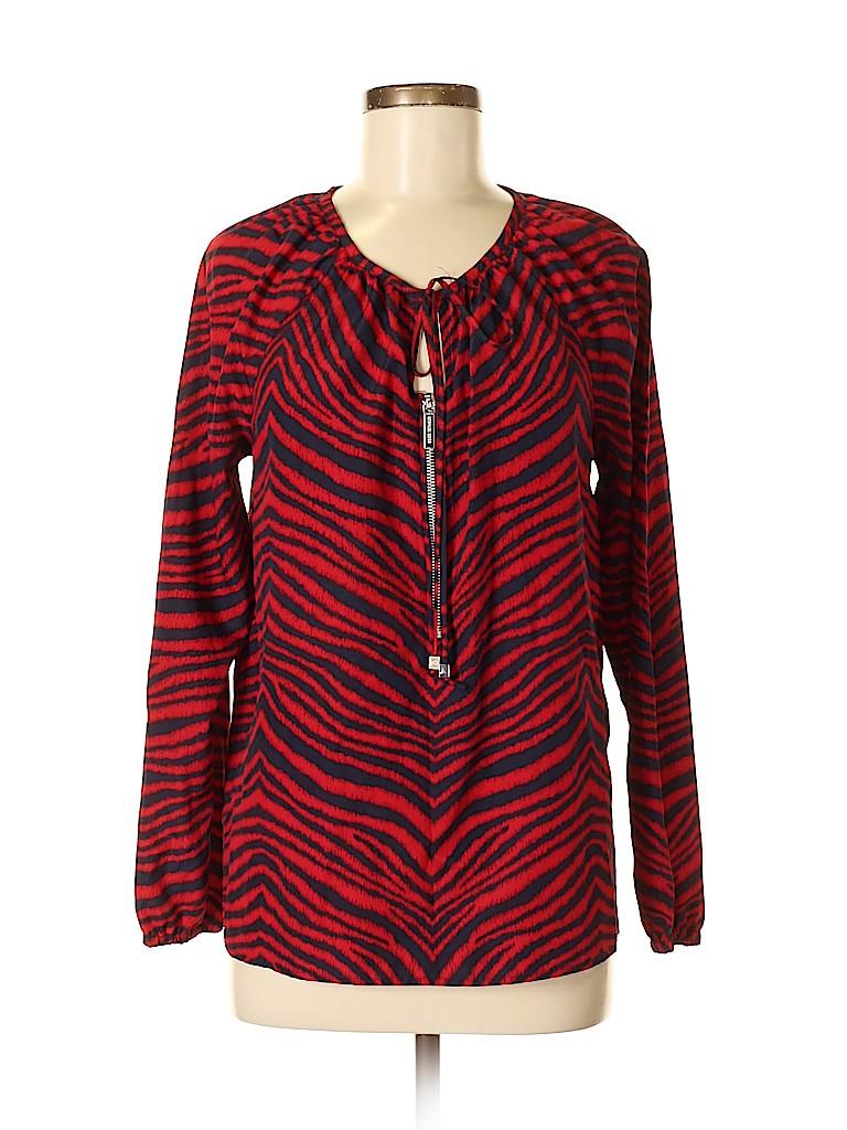 MICHAEL Michael Kors Women Long Sleeve Blouse Size 8