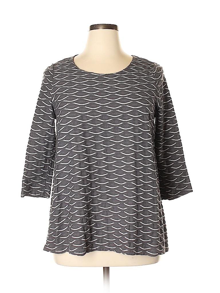 Kim Rogers Women 3/4 Sleeve Top Size XL