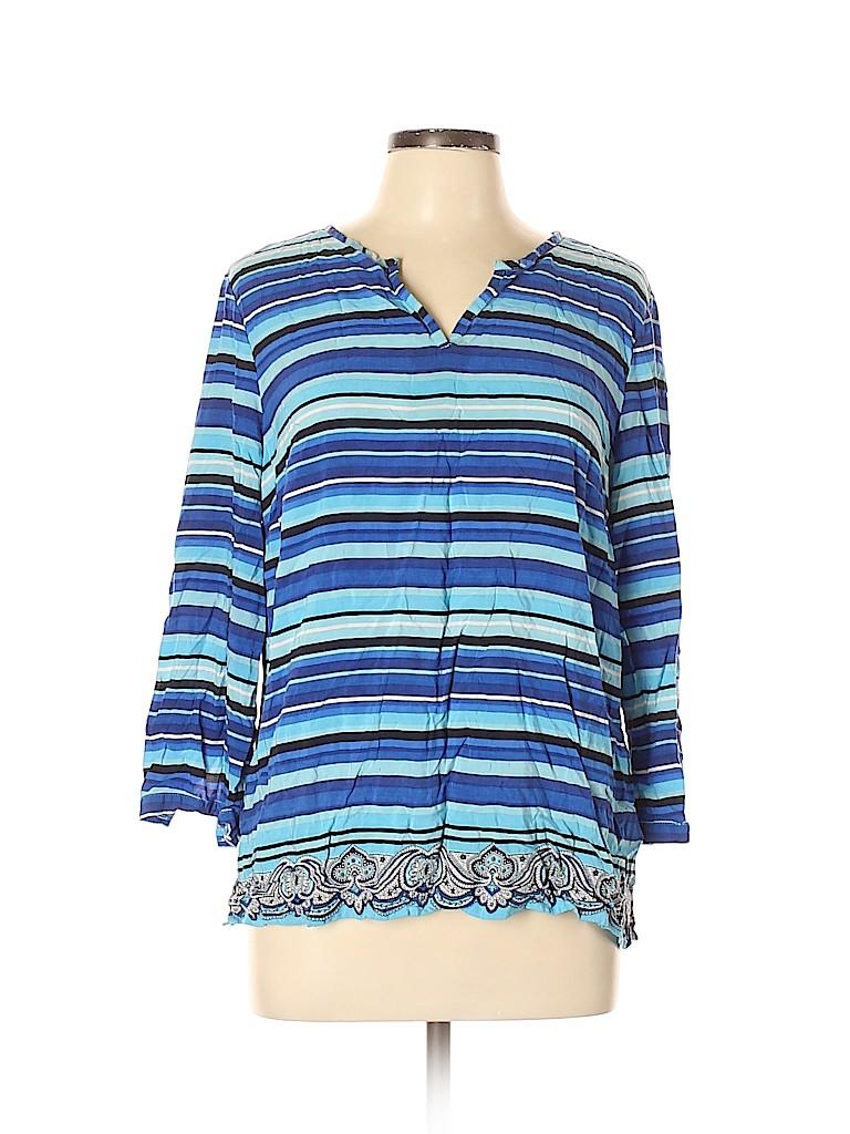 Talbots Outlet Women Long Sleeve Blouse Size L