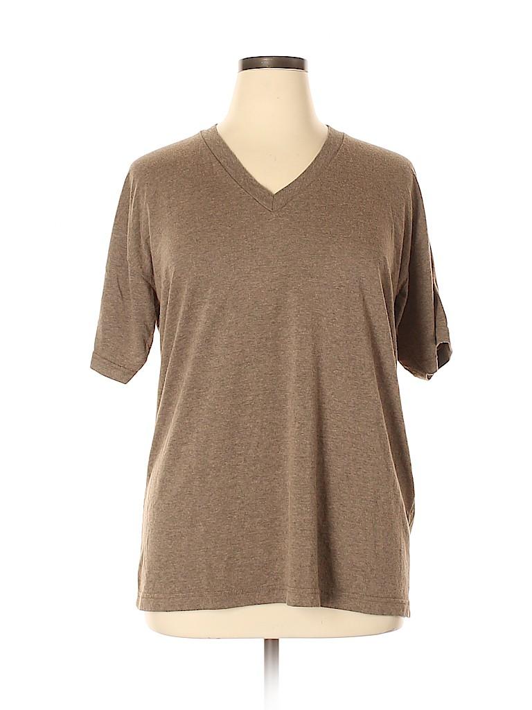 American Apparel Women Short Sleeve Top Size XL