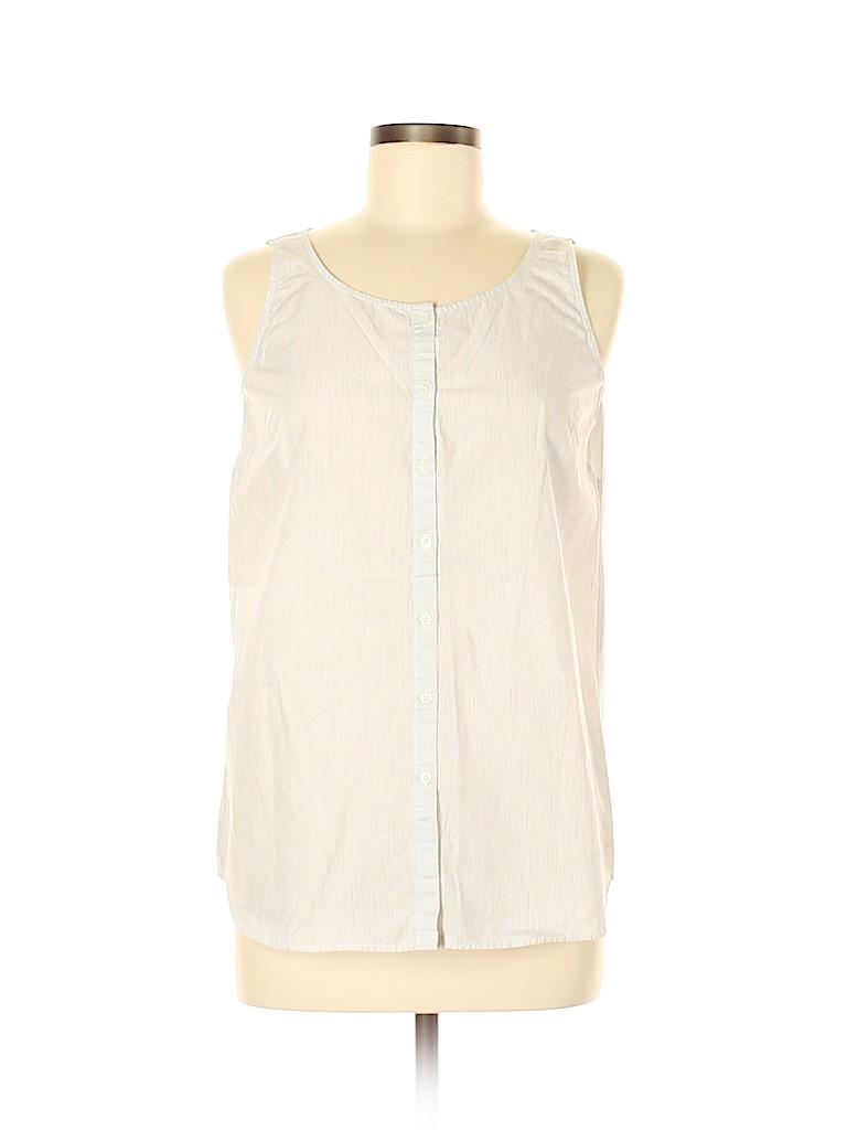 Lafayette 148 New York Women Sleeveless Blouse Size M