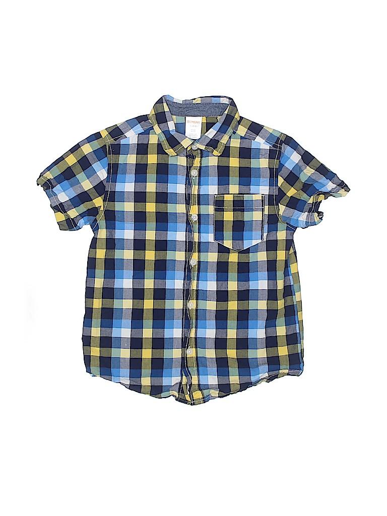 Gymboree Outlet Boys Short Sleeve Button-Down Shirt Size 5-6