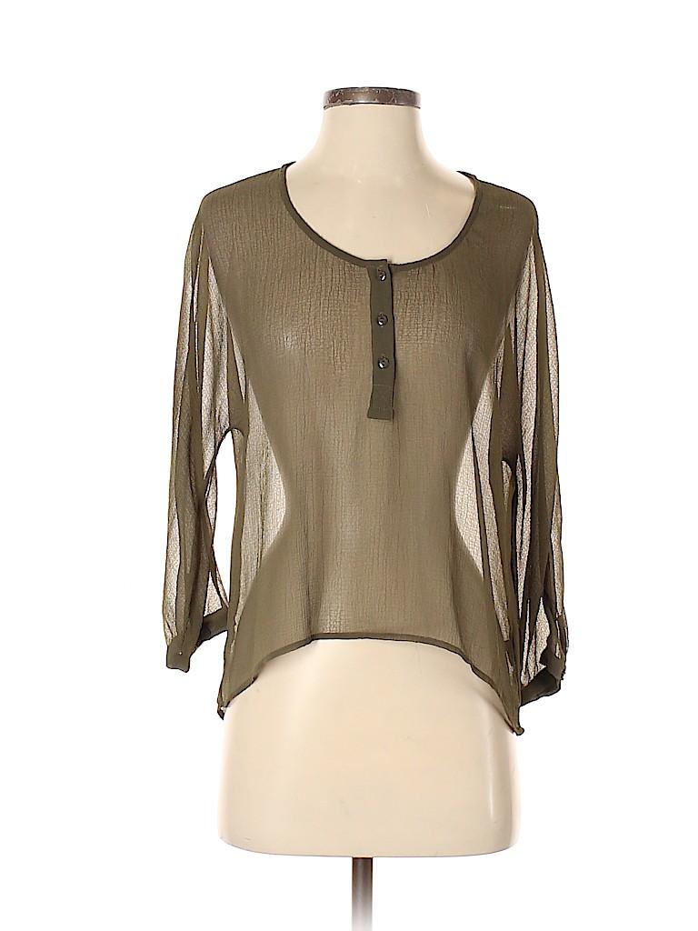 Sparkle & Fade Women Long Sleeve Blouse Size S