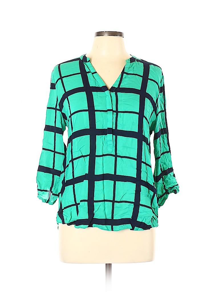 Cynthia by Cynthia Rowley Women Long Sleeve Blouse Size L