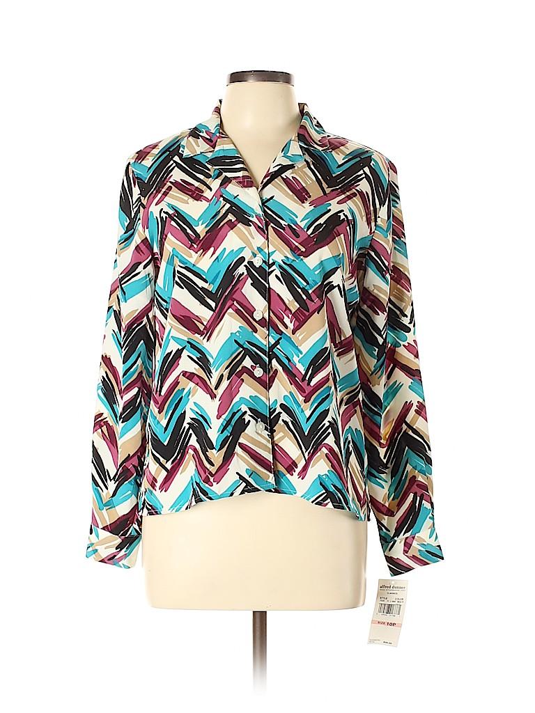 Alfred Dunner Women Long Sleeve Blouse Size 10 (Petite)