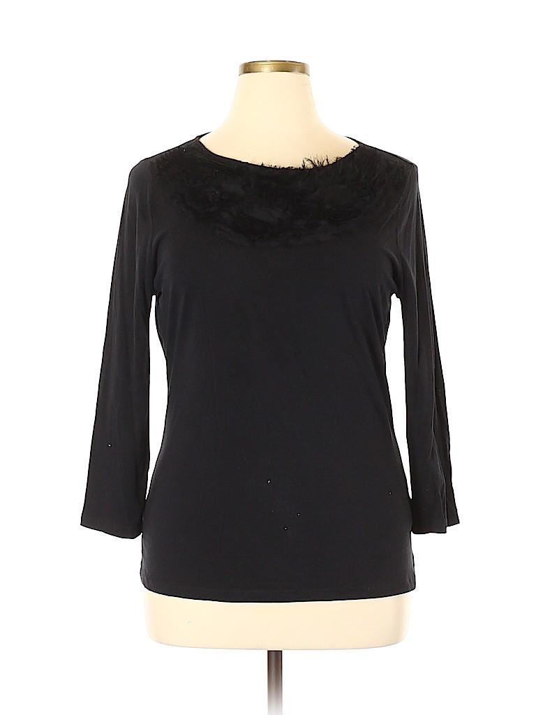 Anne Klein Women Long Sleeve Top Size XL