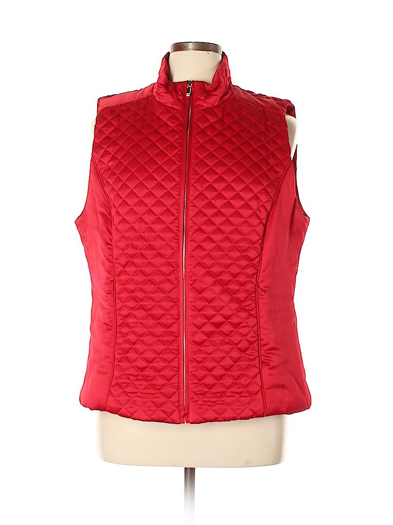 Jones New York Signature Women Vest Size 1X (Plus)