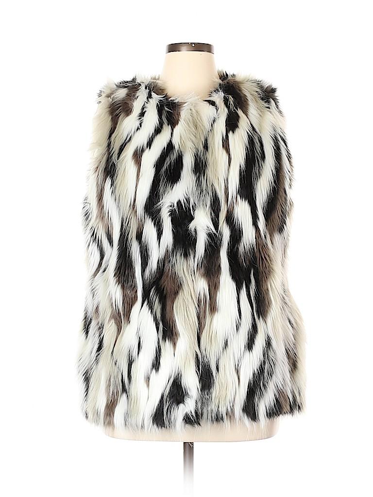 Steve Madden Women Faux Fur Vest Size XL