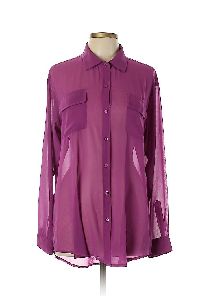 CAbi Women Long Sleeve Blouse Size L