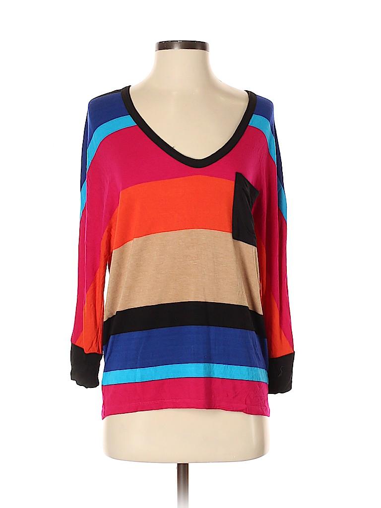 Bordeaux Women 3/4 Sleeve T-Shirt Size S
